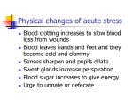 physical changes of acute stress9