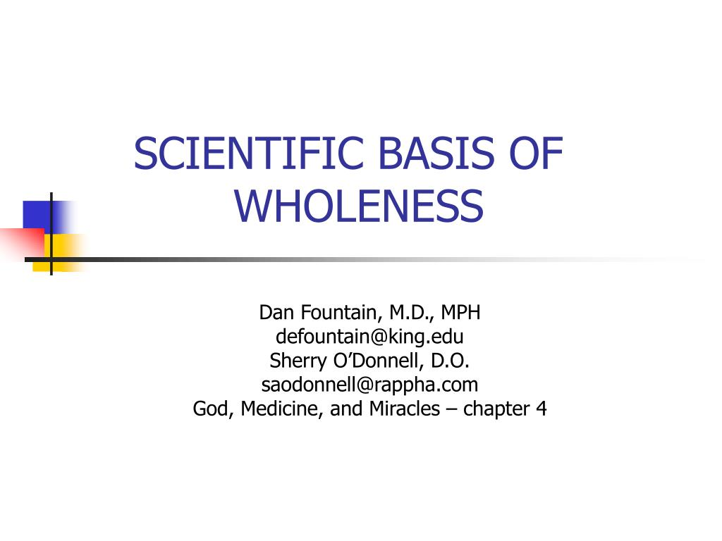 scientific basis of wholeness l.