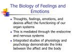 the biology of feelings and emotions