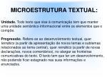 microestrutura textual