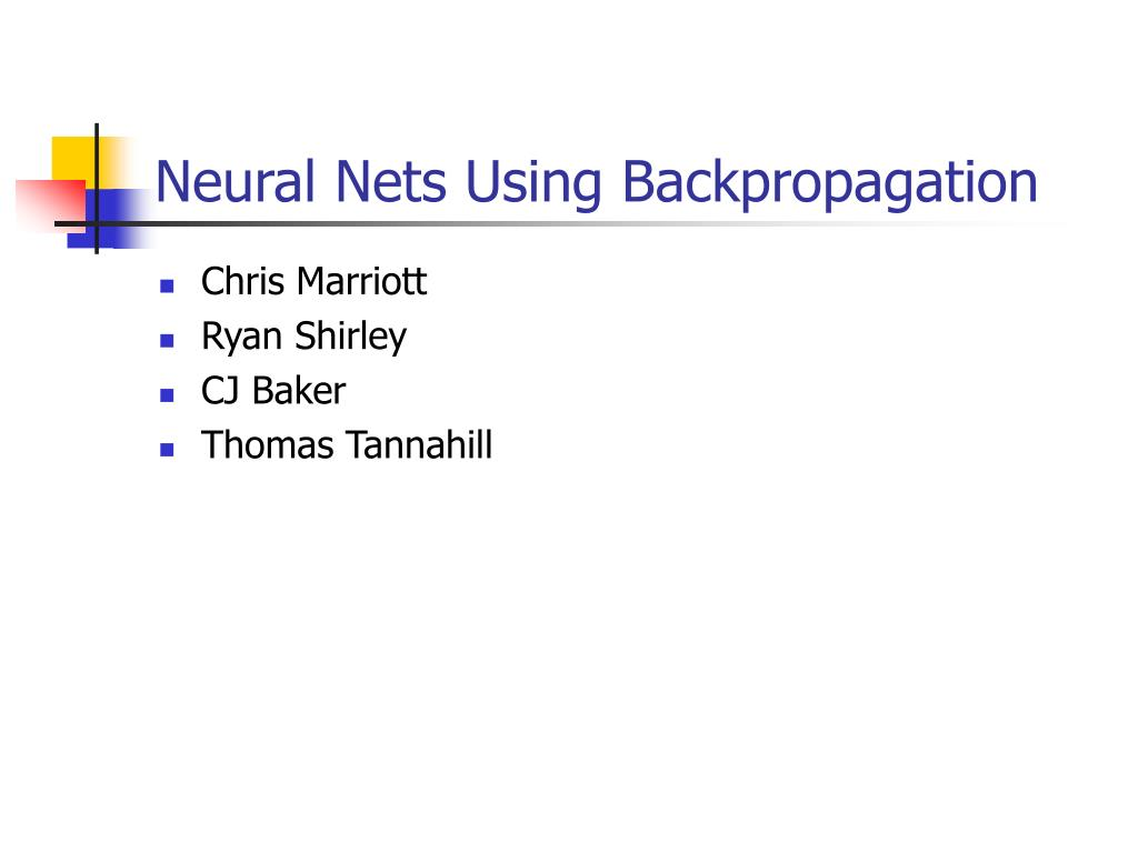 neural nets using backpropagation l.