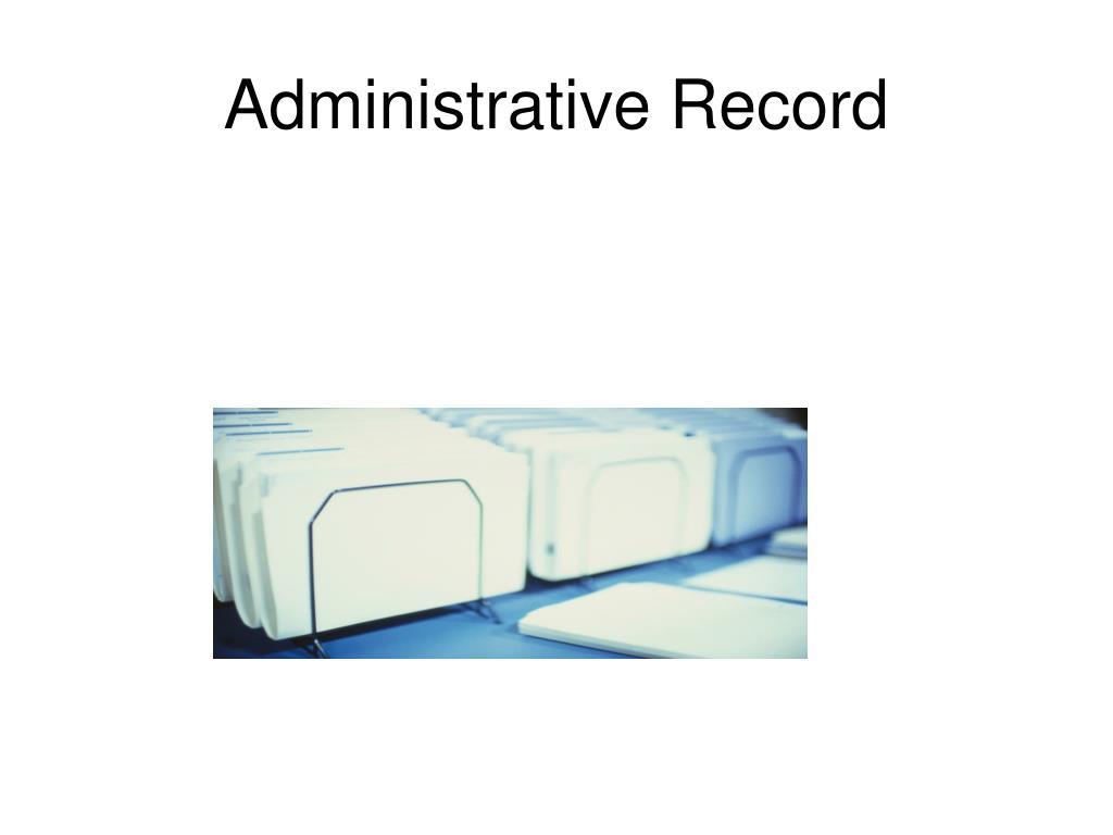 administrative record l.