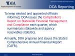 doa reporting
