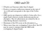 ord and cd