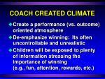 coach created climate