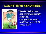 competitive readiness