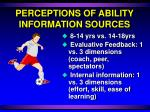 perceptions of ability information sources