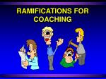 ramifications for coaching