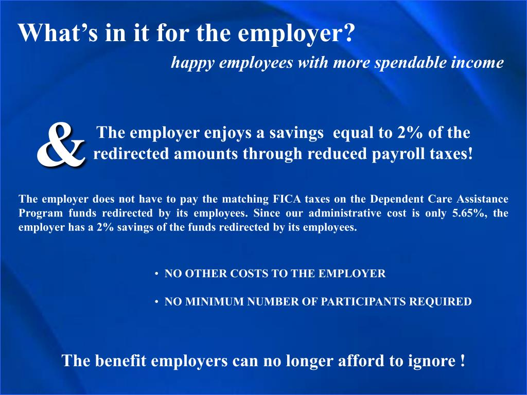 What's in it for the employer?