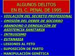 algunos delitos en el c penal de 1995