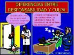 diferencias entre responsabilidad y culpa