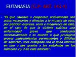 eutanasia c p art 143 4