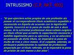 intrusismo c p art 403