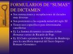 formularios de sumas de dictamen