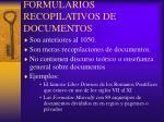 formularios recopilativos de documentos