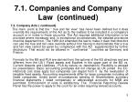 7 1 companies and company law continued