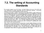 7 2 the setting of accounting standards