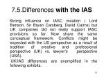 7 5 differences with the ias