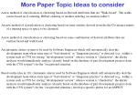 more paper topic ideas to consider