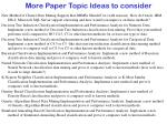 more paper topic ideas to consider10
