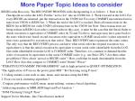 more paper topic ideas to consider15