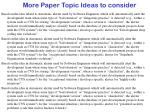 more paper topic ideas to consider9