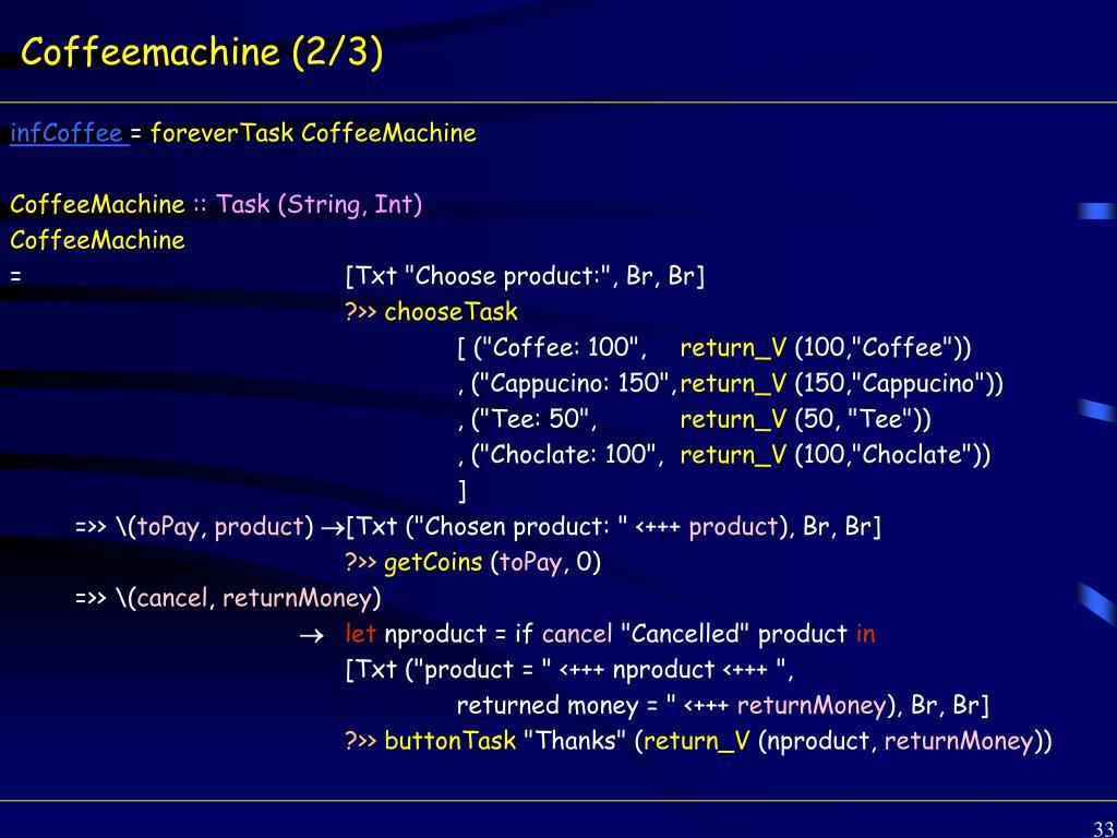Coffeemachine (2/3)