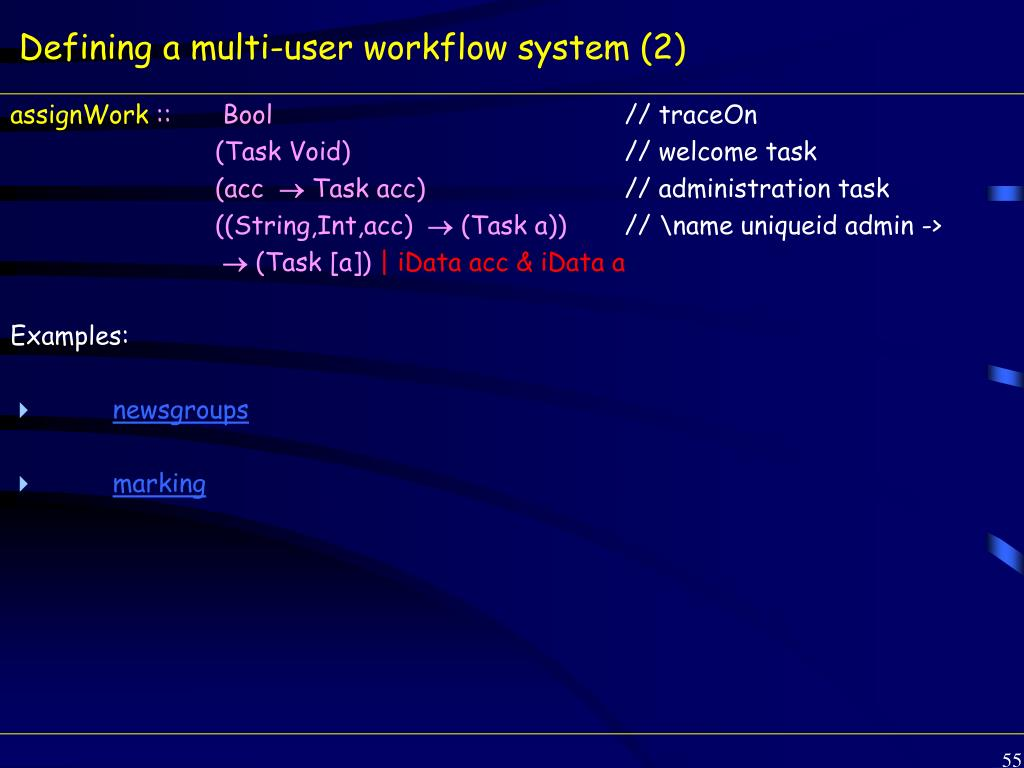 Defining a multi-user workflow system (2)