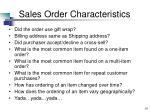 sales order characteristics10
