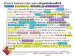 problem statement after adding organizationalunit classes associations attributes generalizations