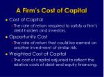 a firm s cost of capital