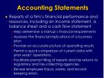 accounting statements