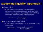 measuring liquidity approach i