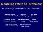 measuring return on investment25
