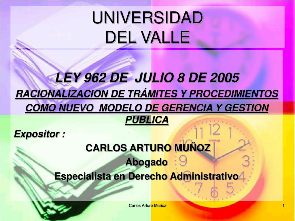 universidad del valle l.