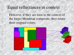 equal reflectances in context