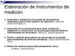 elaboraci n de instrumentos de medici n