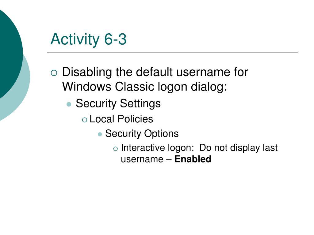 Activity 6-3