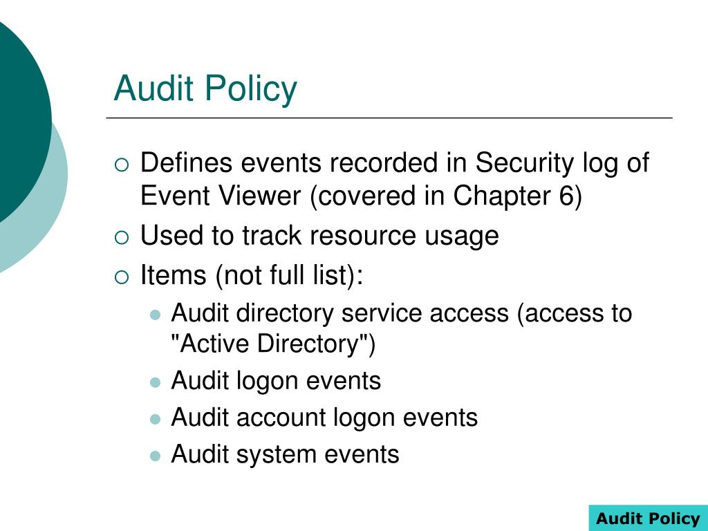 Audit Policy