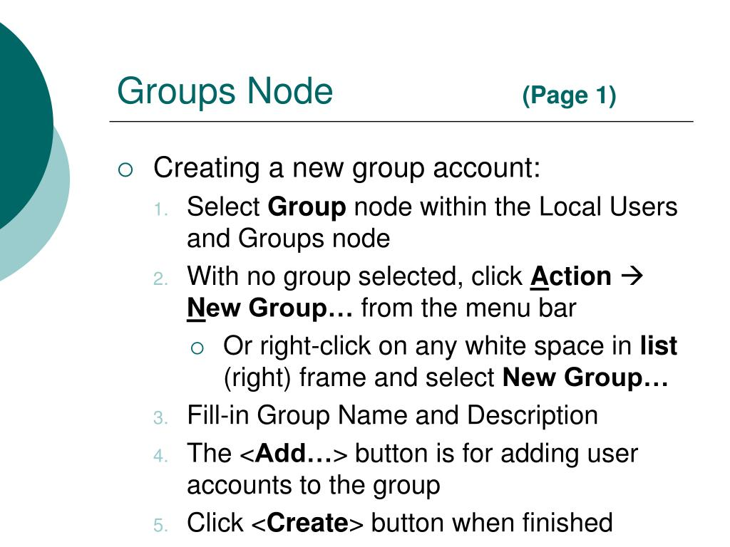 Groups Node