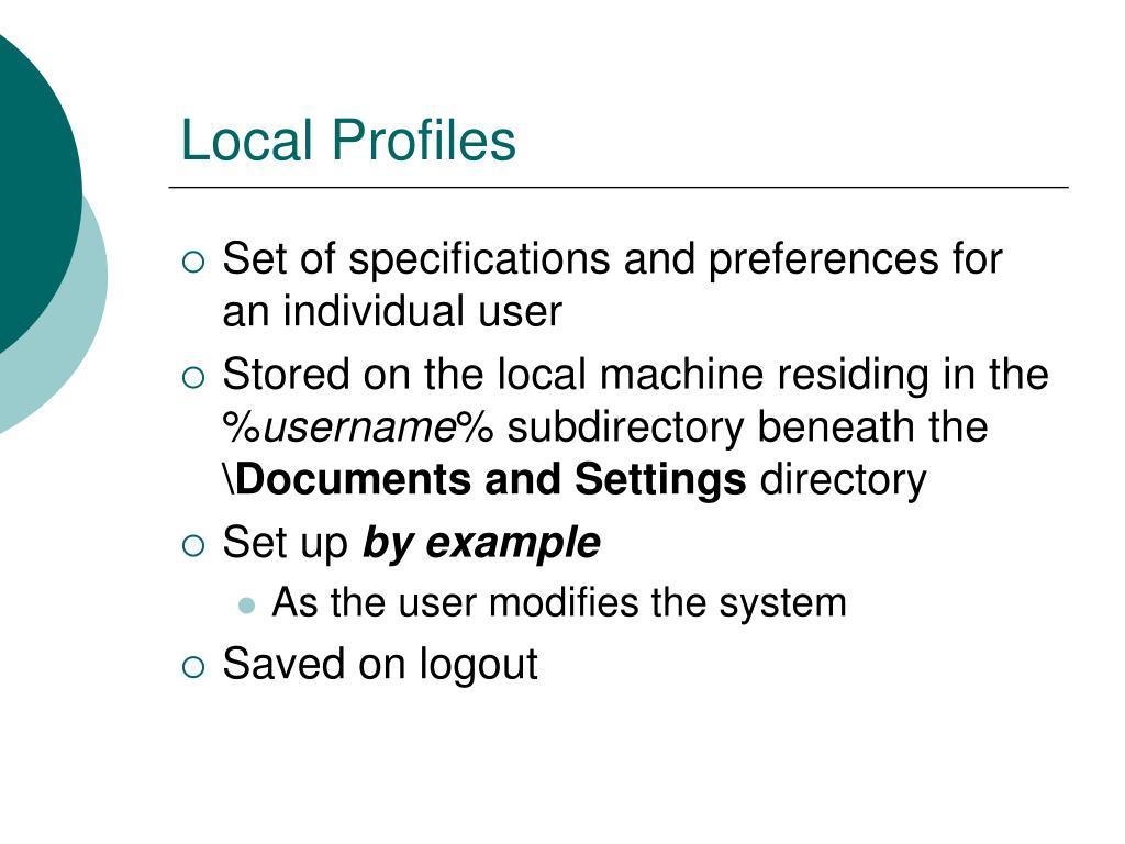 Local Profiles