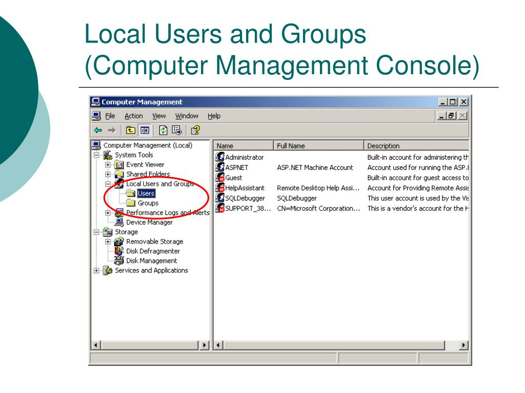 Local Users and Groups (Computer Management Console)