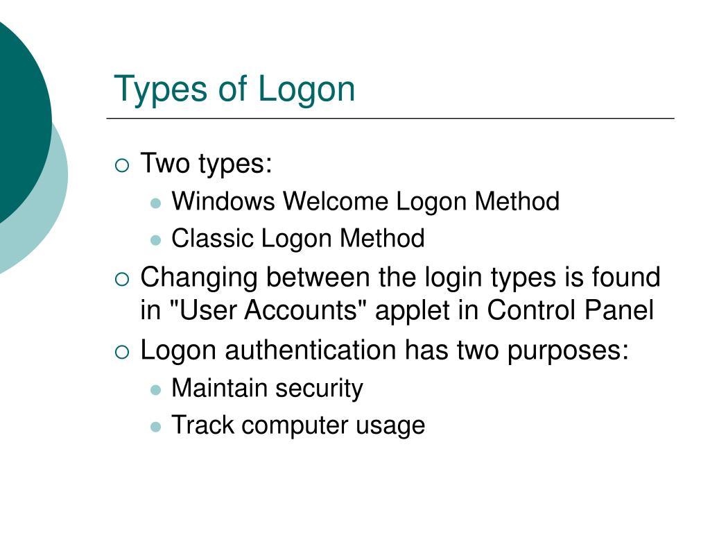 Types of Logon