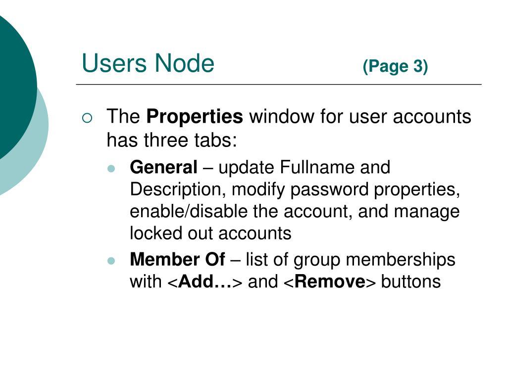 Users Node
