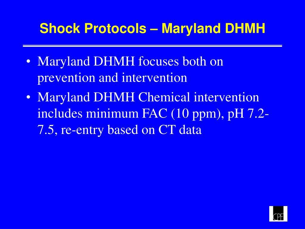 Shock Protocols – Maryland DHMH