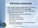 advances continued27
