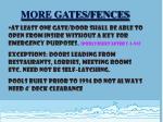 more gates fences