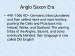 anglo saxon era