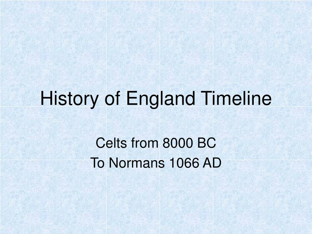 history of england timeline l.