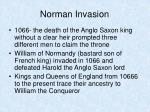 norman invasion